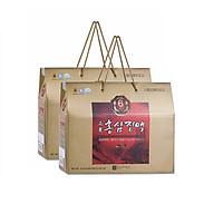 Combo 2 Hộp Nước hồng sâm Hàn Quốc 6 năm tuổi Chong Kun Dang 6 Years Korean Red Ginseng Extract Liquid 70ml x 30 gói + 01 Hộp Nước ép Lê Hàn Quốc Nguyên Chất 80g x 10 gói thumbnail