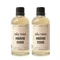 Combo 2 chai tinh dầu tràm Huế - dầu tràm Hoàng Cung 50ml (chai thủy tinh) thumbnail