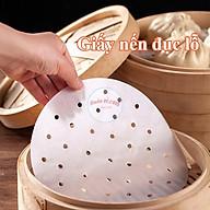 Set 200 tờ Giấy nến tròn 23cm đục lỗ lót nồi hấp 01050 thumbnail