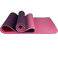 Thảm Tập Yoga ECO TPE 6mm 2 lớp (Tím Hồng) dòng cao cấp thumbnail