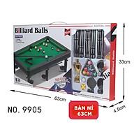 Bàn bi-a lót nỉ size 63cm giải trí ( Bàn Bida lỗ Mini trò chơi giải trí tại nhà cho cả gia đình đủ phụ kiện ) thumbnail