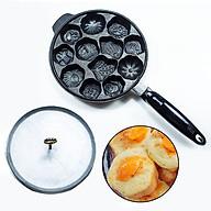 Khuôn Bánh Bông Lan Nướng Chống Dính 12 Bánh Loại Dày Nặng Tay Cầm Hàng VNCLC thumbnail