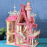 Đồ chơi lắp ráp gỗ 3D Mô hình Mô hình Lâu Đài Dream Villa Laser thumbnail