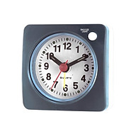 Ascending Sound Small Travel Alarm Clock with Snooze Nap and Light thumbnail