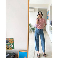 TheBlueTshirt - Quần Jeans baggy Nữ - Up Ride Fly Jeans - Balloon Mild Wash thumbnail