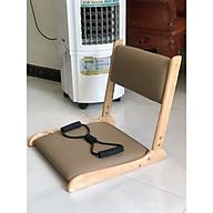 Ghế bệt tựa lưng, ghế lười bằng gỗ VIMOS -Tặng kèm dây kéo tập thể dục( màu ngẫu nhiên) thumbnail