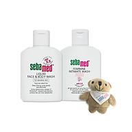 Combo sữa rửa mặt và tắm toàn thân cho da nhạy cảm Sebamed (50ml) và dung dịch vệ sinh phụ nữ Sebamed (50ml) tặng kèm gấu bông xinh xắn - SSS001 thumbnail