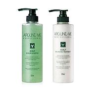 Combo Dầu Gội - Dầu Xả Around Me Sạch Gầu Nấm Cân Bằng Phục Hồi Tóc Scalp Scaling - Balancing Hair Trea Treatment 500ML thumbnail