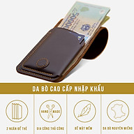 Bóp VÍ Nhỏ Gọn Cầm Tay Da Bò Thật, Ví Da Handmade Thời Trang Unisex Cho Nam Và Nữ Đựng Tiền Và Thẻ VS19 thumbnail