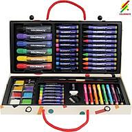 Màu vẽ cho bé, Bộ màu vẽ xinh xắn, Quà tặng bé yêu, Màu vẽ hộp giấy MS-55P thumbnail