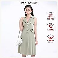 Đầm công sở chất liệu Tuýt-si dáng chữ A không tay FDC52678 - PANTIO thumbnail