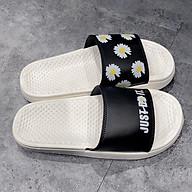 Dép lê nữ hoa cúc cao su non ulzzang dép quai ngang đế bánh mỳ gót cao 3cm giày thể thao sneaker 2G02 thumbnail