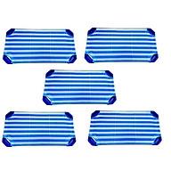 Combo 5 giường lưới mầm non thoáng mát có 2 thanh đỡ lưng cho bé D120 x R60 x C10 cm thumbnail
