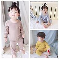 Đồ bộ quần áo dài tay cho bé chất thun lạnh chạy viền QATE758 thumbnail
