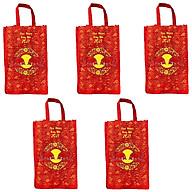 BỘ 5 túi vải đựng đồ cao cấp kích thước 40x30x12cm tiện dụng , thân thiện môi trường ,dễ dàng sử dụng, gấp gọn khi không dùng thumbnail