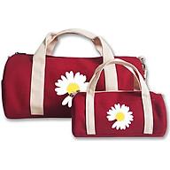 Combo túi du lịch COVI đa năng thời trang màu đỏ vải canvas thumbnail