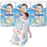 Combo 3 gói tã quần Moony cao cấp size M58 L44 XL38 XXL26 tặng bàn chơi đa năng và đồ chơi Toys House (ngẫu nhiên) thumbnail