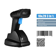 Aibecy Handheld 1D 2D QR Wireless Barcode Scanner Bar Code Reader with USB Cradle Receiver Charging Base 100m Long thumbnail