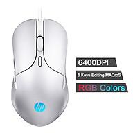 Chuột chơi game có dây công thái học HP Genius, M280, 6400 dpi, có thể điều chỉnh, triệu màu, với đèn LED RGB, dành cho PC thumbnail