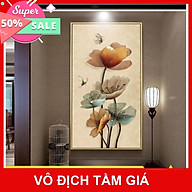 Bộ tranh treo tường phong thủy trang trí nội thất hình hoa đẹp thumbnail