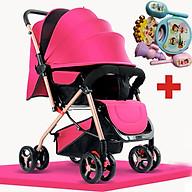 Xe đẩy trẻ em 2 chiều gấp gọn, xe đẩy cho bé HT 105 - 2 chiều 3 tư thế đa năng kiểu dáng sang trọng, dễ dàng mang theo ( TẶNG KÈM BỘ ĐỒ CHƠI XÚC XẮC ĐÁNG YÊU CHO BÉ ) - xe đẩy du lịch, xe đẩy gấp gọn, xe đẩy cho bé, xe đẩy em bé thumbnail