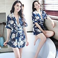Set Áo Choàng Ngủ Tặng Quần Lọt Khe Erotic Lingerie Sleepwear BCS21 T1155 thumbnail