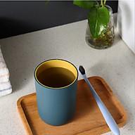 Cốc uống nước, cốc đánh răng nhựa PP cao cấp 2 lớp an toàn dung tích 350ml - giao màu ngẫu nhiên thumbnail
