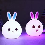 Đèn ngủ hình thỏ cao cấp có điều khiển từ xa ( Màu ngẫu nhiên tai xanh - đỏ ) thumbnail