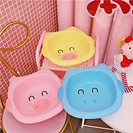 Chậu rửa mặt hình thú cho bé đáng yêu ( màu ngẫu nhiên ) - tăng 01 mũ tắm cho bé thumbnail