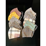 Combo 10 khẩu trang vải 3 lớp nhiều màu ngẫu nhiên thumbnail
