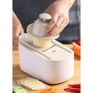Dụng cụ rổ bào có chậu, nạo củ quả tiện lợi 3in1 Eco2021 tặng dụng cụ cắt khoai tây - màu ngẫu nhiên thumbnail