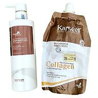 Combo gội ủ Collagen Karseell Maca siêu mượt cho tóc khô hư tổn 500ml thumbnail