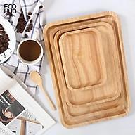 Khay gỗ Tần Bì Chữ nhật Vuông Tròn nguyên khối, Đựng đồ ăn, màu tự nhiên (Nhiều Size) EH019 thumbnail