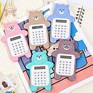 Máy tính hình gấu kế toán 8 số cầm tay mini bỏ túi dành cho học sinh cấp 1 giá rẻ Quà tặng cho bé thumbnail