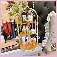 Kệ mỹ phẩm lồng chim CEN HOUSE nhiều tầng đựng đa năng để nước hoa decor nội thất phòng ngủ thumbnail