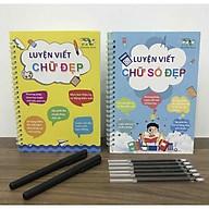 Combo 02 quyển vở luyện viết chữ và số đẹp tự xóa chuẩn tiếng Việt thumbnail