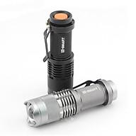 Đèn pin cầm tay CREE Q5 siêu sáng (Hàng chất lượng cao, Màu ngẫu nhiên Bạc Đen) - Tặng kèm đèn pin bóp tay thumbnail