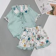 Đồ Bộ Mặc Nhà, Bộ Pijama Lụa Satin Cao Cấp Tay Ngắn- Boody BP03.3 thumbnail