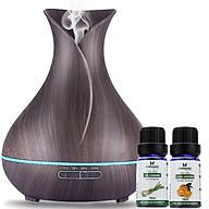 Combo máy khuếch tán tinh dầu bình hoa màu nâu FX2020 + tinh dầu sả chanh + tinh dầu cam Lorganic (10ml x2) LGN0185 thumbnail