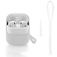 Bao Ốp Silicon Dành Cho Apple Airpod Có Dây Đeo (Màu Trắng) thumbnail