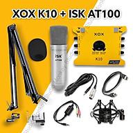 Bộ Mic Hát Livestream Soundcard XOX K10 2020 & Mic ISK AT100 Chất Lượng Cao, Âm Thanh Cực Kỳ Sống Động - Hàng Chính Hãng thumbnail