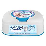 Khăn Ướt Bobby Hộp Tiện Lợi (80 Miếng) thumbnail