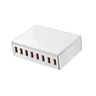 WLX-T9 8 Port USB Charger 40W Quick Charging Portable Charger Station for Mobile Phone Tablet Multiple USB Devices US thumbnail