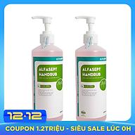 Set 2 chai Nước rửa tay sát khuẩn gia đình Alfasept Handrub 500ml- Tinh chất Nha Đam thumbnail