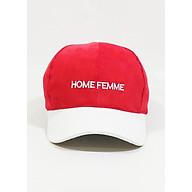 Nón kết Mũ lưỡi trai thời trang hàn quốc Home Femme NON0245DO thumbnail