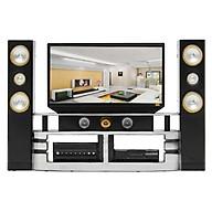 Bộ tivi nội thất màu đen dành cho búp bê thumbnail