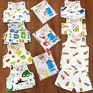Set 05 bộ ba lỗ cotton giấy cho bé sơ sinh 3-15kg, hàng Việt Nam thumbnail