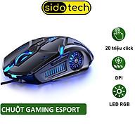 Chuột máy tính gaming SIDOTECH G5S chuyên chơi game Esport đèn Led Rgb 6 Nút Bấm DPI 3200 tuổi thọ 30 triệu lần click cao thiết kế công thái học cho game thủ streamer FPS Moba lướt web thiết kế làm việc văn phòng tương - Hàng chính hãng thumbnail