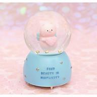 Quả cầu tuyết Beauty in simplicty heo hồng ôm trái tim thumbnail