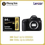 Thẻ nhớ CF Lexar 64GB Pro 1066X 160MB s - cho máy ảnh chuyên nghiệp, tốc độ cao (Đen, Vàng) - HÀNG CHÍNH HÃNG thumbnail